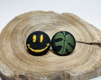 Hand Embroidered Pin back / Button
