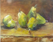 Pear Time Small Oil Painting 24 x 30 cm Original Painting by the Artist Ideal Gift for Any Wall Large Art