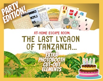 Fun for kids Family time Escape Room Game for Birthday Party Print /& play