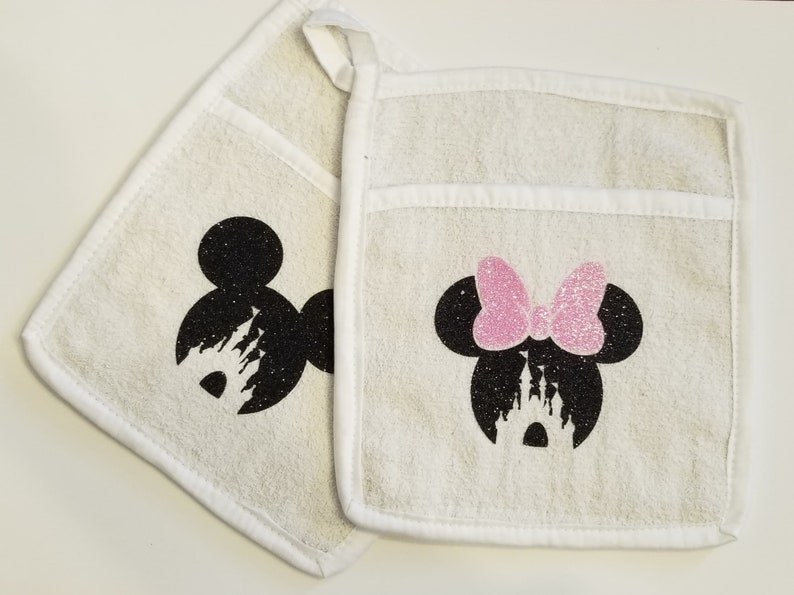 Mouse Inspired Pot Holders set of 2