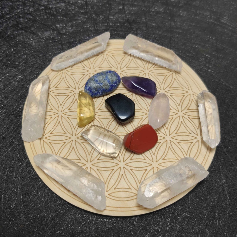 Chakra Crystals Set Natural Cystals Set Personalized Crystal Crystals Gift Beginners Crystal Set Healing Crystal Gemstones Gems