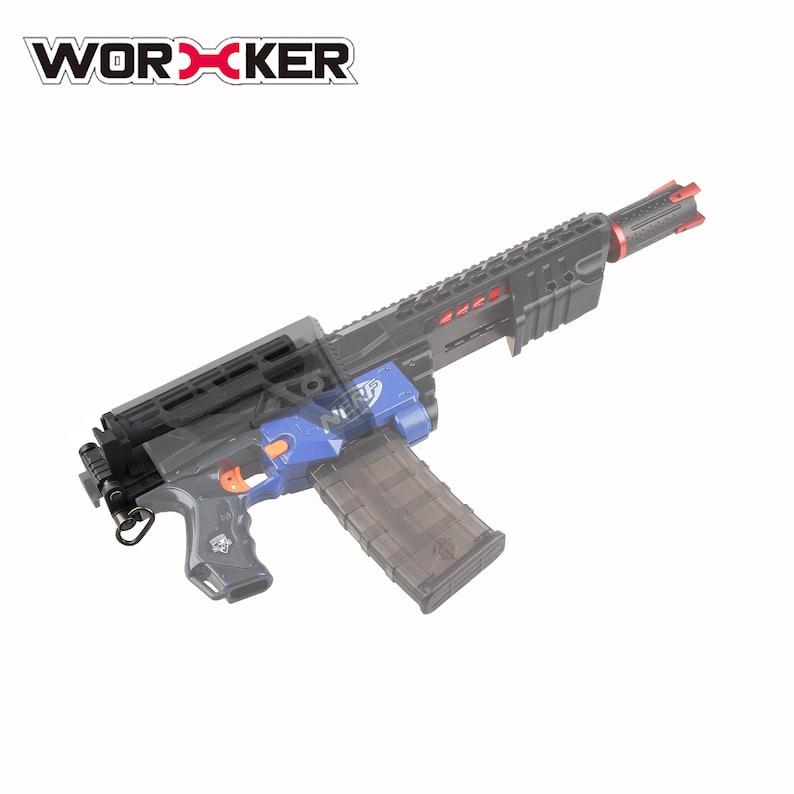 3-5 days arrival guaranteed Worker4Nerf worker mod Shoulder Stock Core with Adaptor for N-Strike Elite Blasters Black