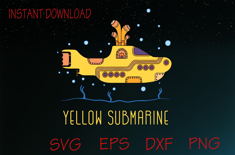 The Beatles Yellow Submarine SVG Yellow Album Svg Abbey