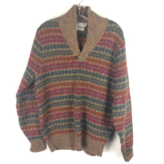 Vintage Imagnin Shawl collar Wool Sweater Scotland