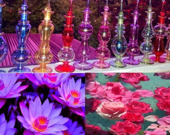 Fairy Glass Bottle with Sacred Rose & Blue Lotus Healing Elixir Spray