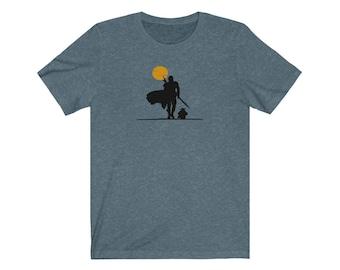 Gunslinger and Child - Unisex Ultra Soft Jersey Short Sleeve Tee