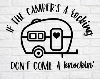 When the Caravans Rocking Don/'t Come Knocking Motorhome Hanging Window Sign Gift