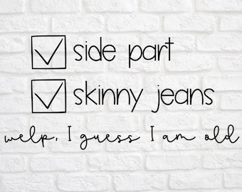 Image result for side part and skinny jeans