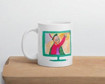 Shakespeare From Afar Coffee Mug / English Teacher Mug / Social Distancing Mug // Quarantine Coffee Mug / English Teacher Gift