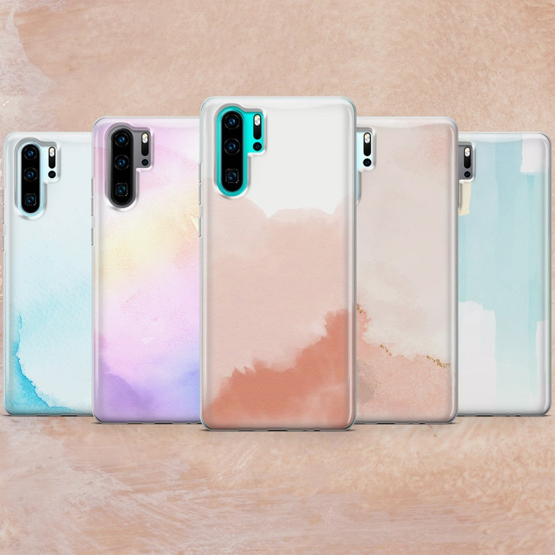 XR Watercolor Phone Case Painting Cover for iPhone 11 SE S10 A50 A51 Huawei P20 8+ S21 XS max P30 Mate Samsung Note 10 12 Pro 7