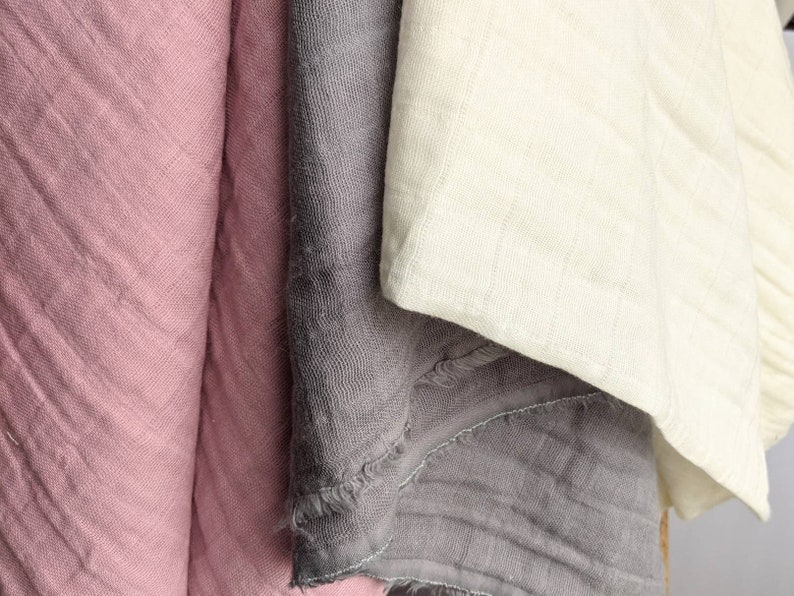 Double gauze fabric apparel fabric light cotton pink fabric cotton fabric by the yard Shannon fabrics muslin fabric fabric for baby