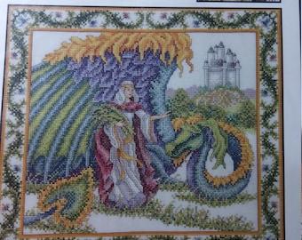 1996 Fantasy Triptych Cross Stitch Charted Design by Teresa Wentzler