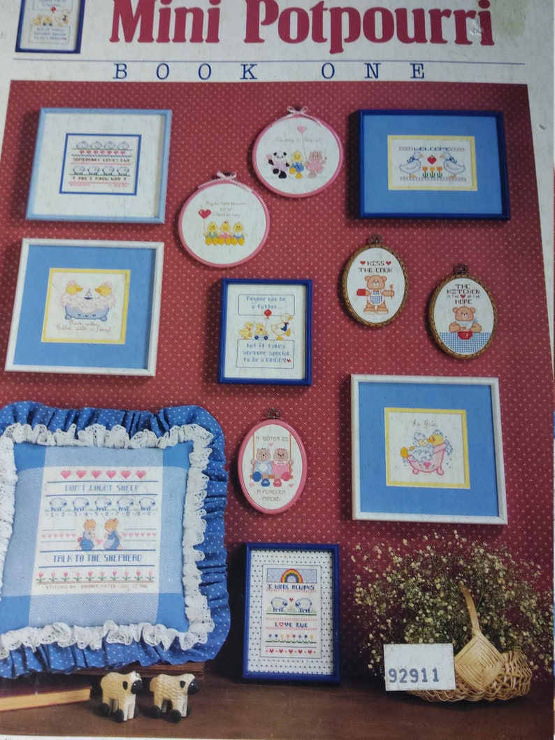Dimensions Mini Potpourri Book 1 by Barbara /& Kristi Yates Cross Stitch Pattern Vintage