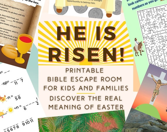 Easter Escape Room Game. Bible Kids and Family Printable Party Game for Families and Kids | Fun Escape Room Kit | DIY Escape Room Adventure