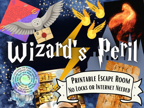 Wizard Escape Room Game. Adventure Party Game for Kids, Families, Adults and Teens | Fun Printable Puzzle Escape Game | DIY Escape Room Kit