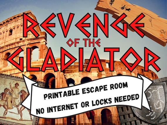 Gladiator Escape Room Game. Printable Adventure for Families, Adults and Teens