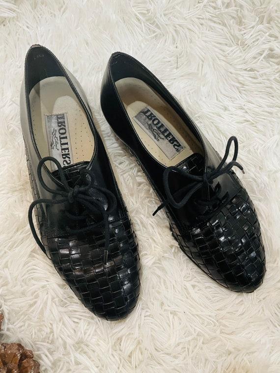Vintage Black Oxfords | Womens Oxfords | Hipster S