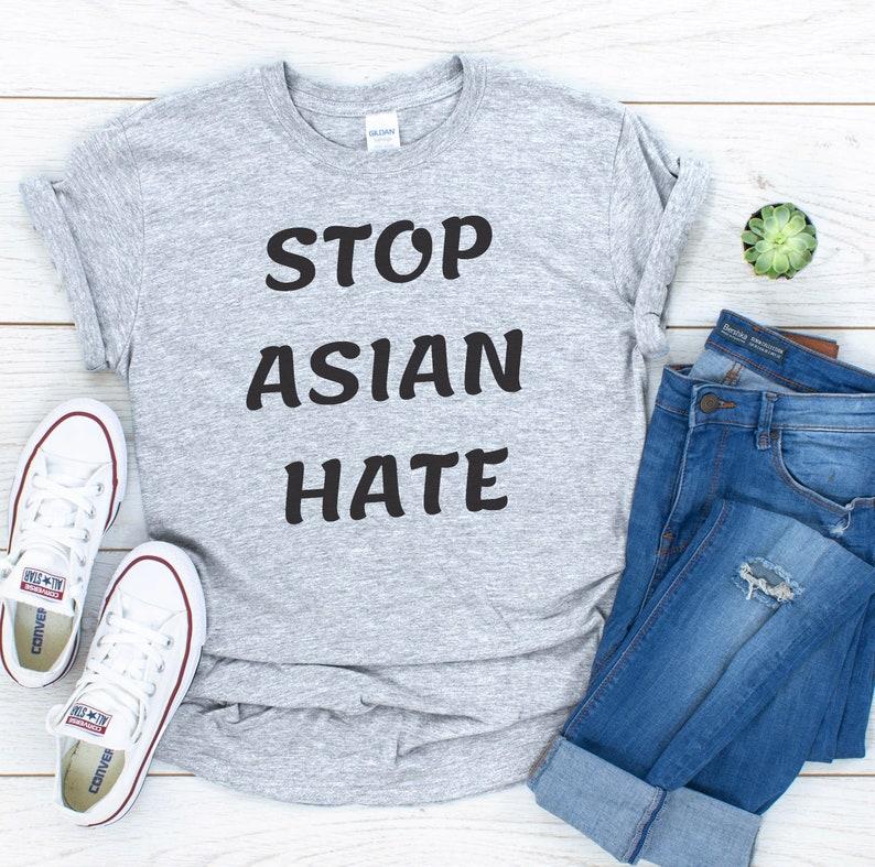 Anti-Violence Anti-Racism Asian Lives Matter Stop Asian Hate T-shirt Anti Racist Social Club T-Shirt AAPI Community Solidarity BLM Shirt