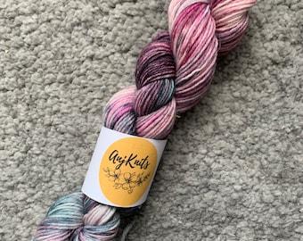 Hand Dyed Yarn - Dark Rose