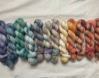Hand Dyed Yarn Bloom Collection - 14 x 100g | Skein Set