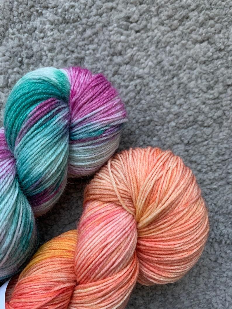 Just Peachy 100g Hand Dyed Yarn