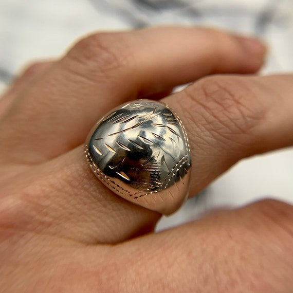 Vintage Silver dome Ring