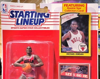 1990 New Starting Lineup Michael Jordan Action Figure With Etsy