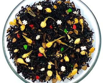 Christmas Blend Black Tea, Loose Leaf Tea, Seasonal Tea, Spiced Tea, Holiday Gift, Tea Drinker, Small Stocking Stuffer,