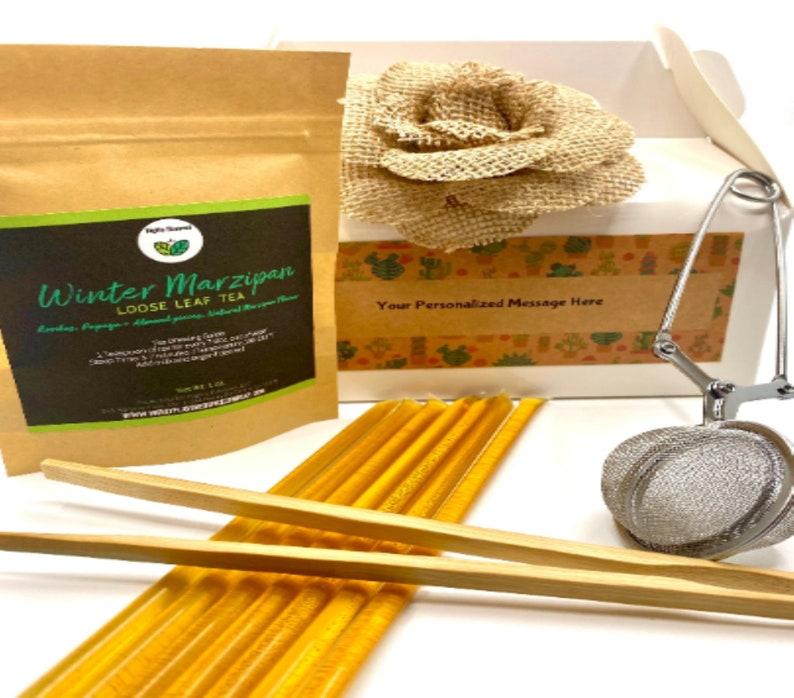 Loose Leaf Tea Gift Box Tea Gift Set Personalized  Custom image 1
