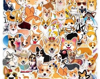 Corgi Dog Stickers Cute Cartoon Stickers On Laptop 100PCS