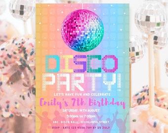 Disco Ball Party Invite