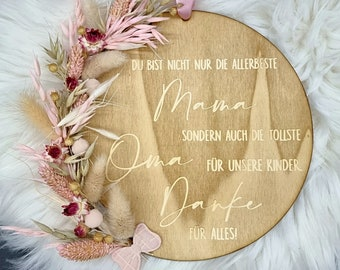 """Wooden sign """"Mom"""" 
