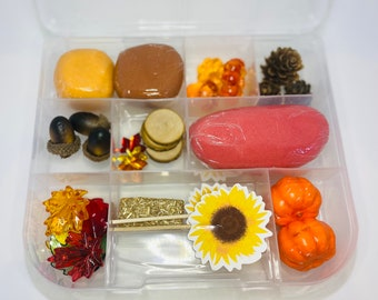 Fall Sensory Kit, Fall Play dough kit