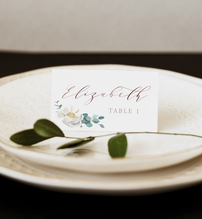 Folded Place Card Name Card Floral Place Card INSTANT DOWNLOAD Flat Place Cards Escort Card Templett Template IN029 Flat Placecard