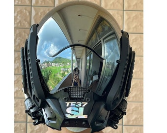 Cyberpunk mask with functional wind sci-fi mechanical mask DJ comic show COS props