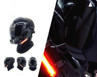 Cyberpunk mask Cosplay helmet Dj Mask PropsGame props Movie props hotography Props Halloween Mask motorcycle mask