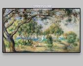 FRAME TV Colorful tropical seascape. Antique art to download. Vintage coastal Landscape. Digitized classic painting for Samsung Art TV