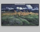 FRAME TV Winds on a Prairie. Antique art to download. Digitized classic landscape painting for Samsung Art TV Vintage Fine Art Mood