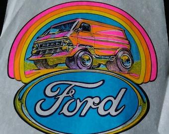 "Roach  Vintage  Rare ""Ford Van  "" Iron-On Transfer  Full Color Original"