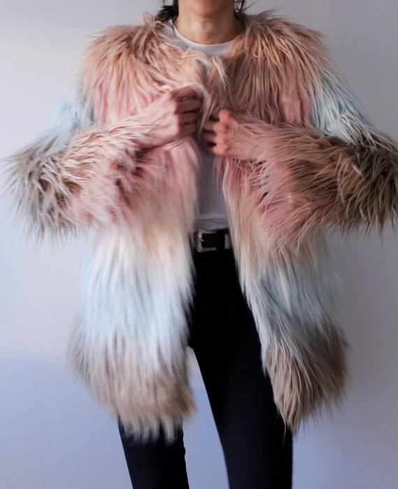Pastel - Boho Fake Fur Jacket