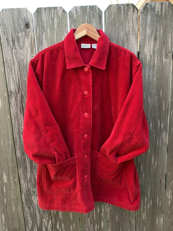 Beautiful Vintage Sears Classic Elements Red Cordu
