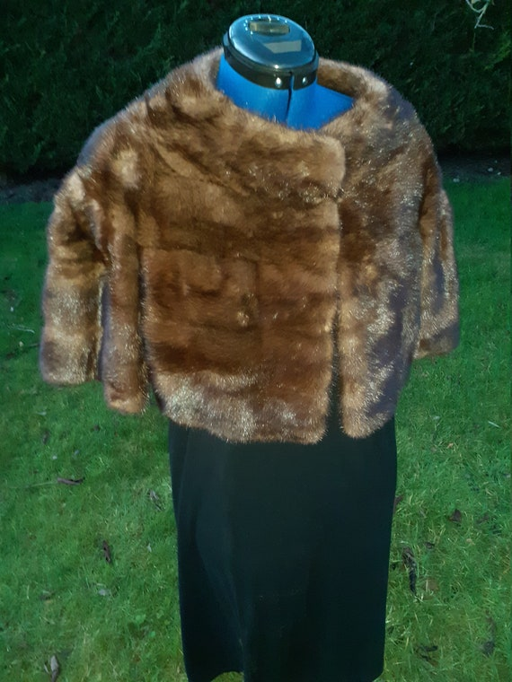 Gorgeous  Mink Bolero 1940s/50s by S. London Ltd.