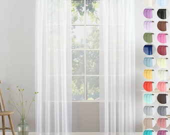 Sheer Curtains Etsy
