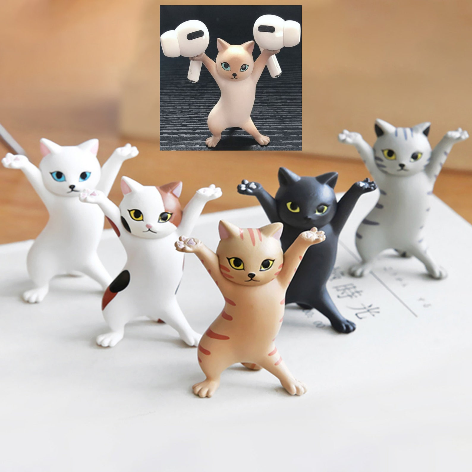 Cat Airpod, Pen and Glasses Holders