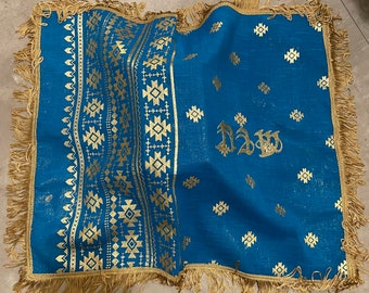 Blue challah cover, rosh hashana