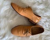Vintage Dieppa Restrepo Orange Leather Loafers Dress Shoes size 7 women