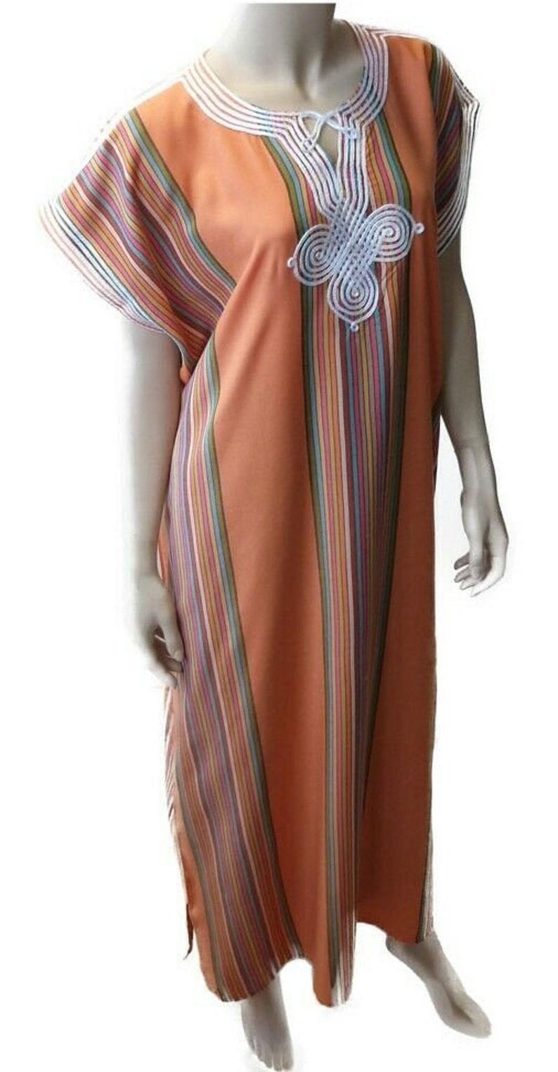 Stripe Moroccan kaftan