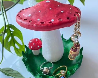 Handmade Mushroom Clay Earrings