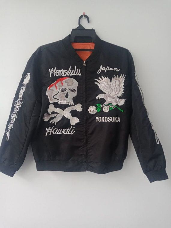 Rare Vintage Souvenir Japanese Sukajan jacket Japa