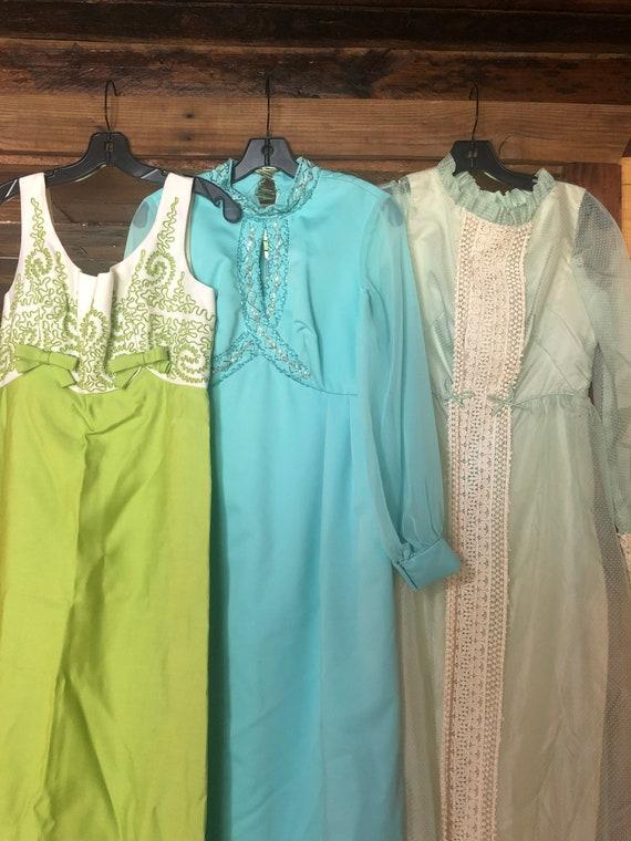 Lot of 3 vintage 70s dresses/vintage dresses/vint… - image 2